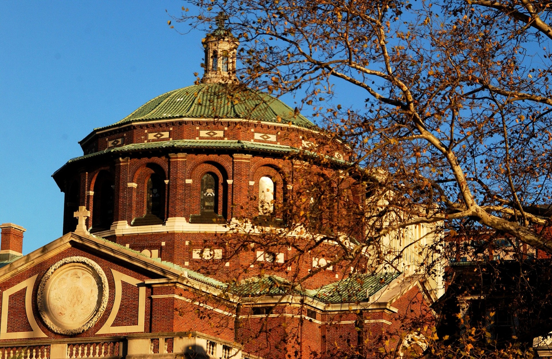Exterior dome of St. Paul's Chapel at Columbia University.