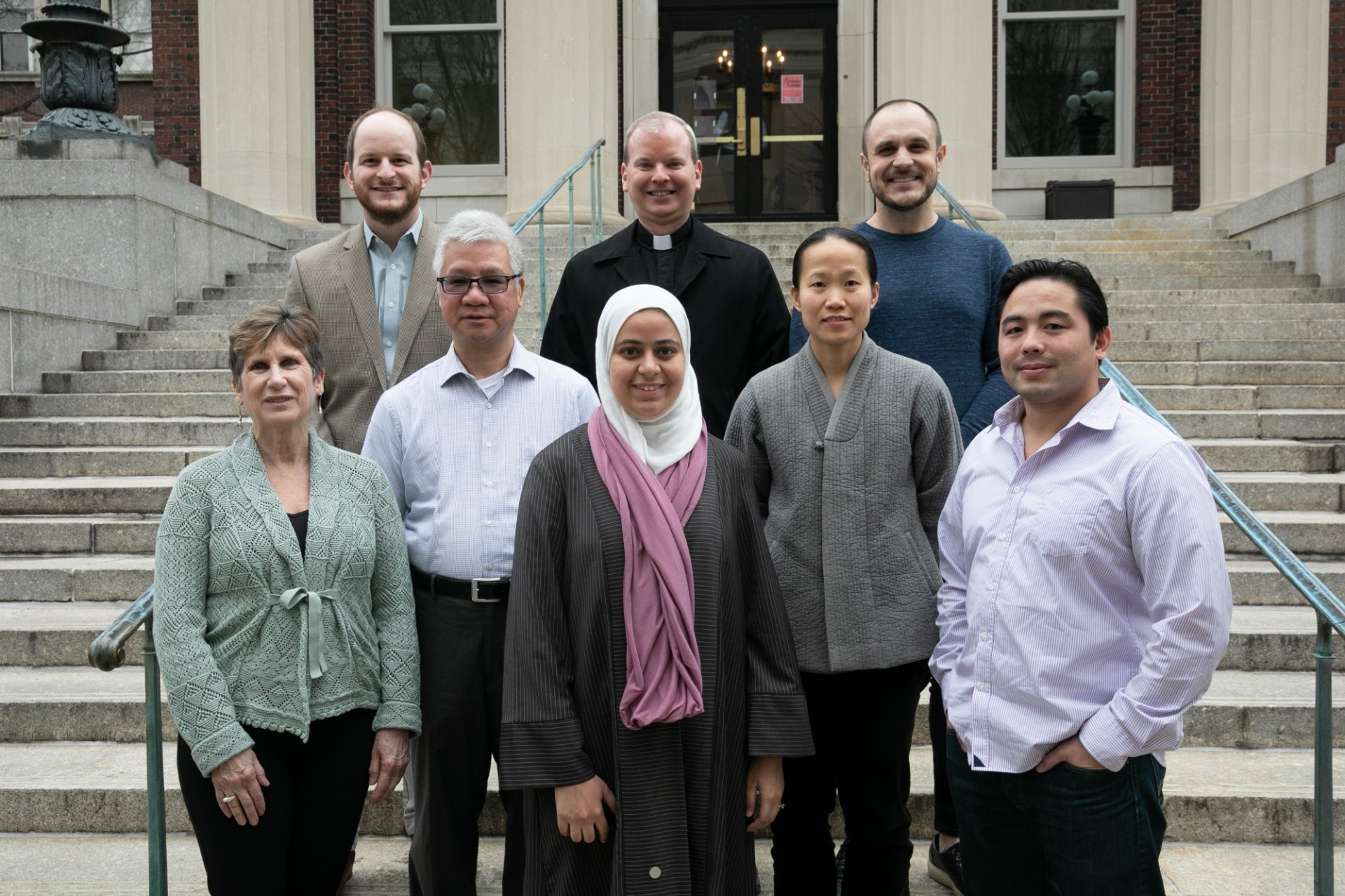Religious Life Advisers on the steps to Earl Hall.